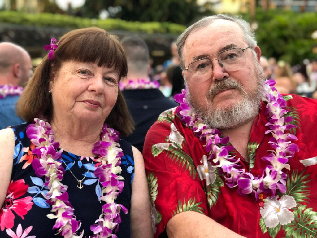 John Vassar with his wife